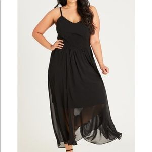 City Chic Shirred Maxi Dress